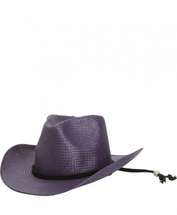 San Diego Hat Little Girls' Cowboy Hat - Purple - CI11S3WXEL1