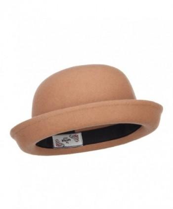 3117fdfce98 Available. Wool Felt Upturn Brim Bowler Hat - Tan - CT1208E6H3D ...