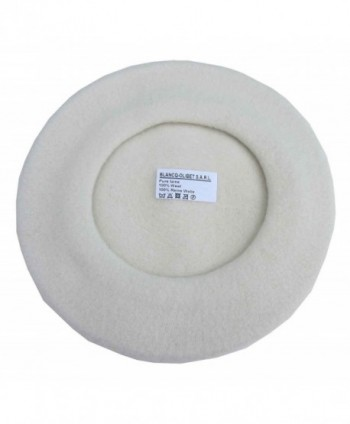 Blancq-Olibet Youth Traditional French Wool Beret - Off White - C4110IC5A01