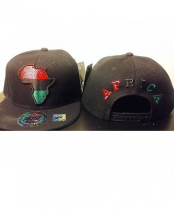 RBG Snapback Africa Hat Red Black Green Embroidered Pan African BLACK - CL12GHFTMST