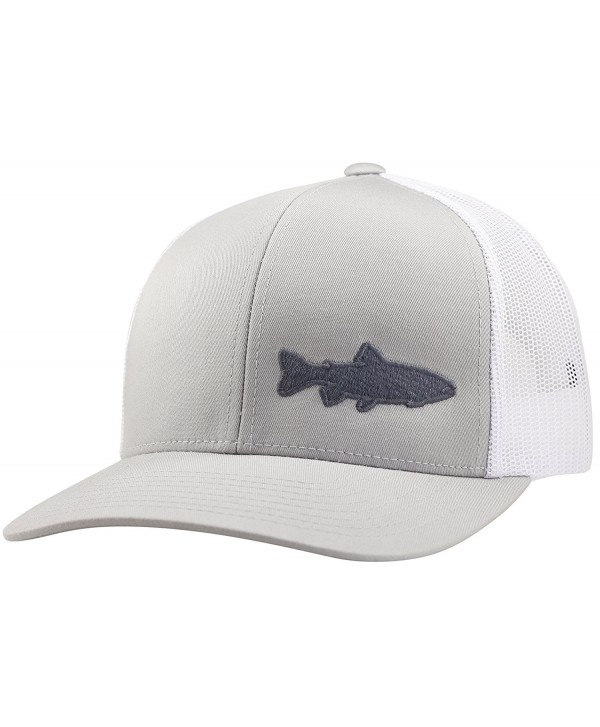 Trucker Hat - Trout Fishing 2.0 - by Lindo - Silver/White - CS183CD7DD5
