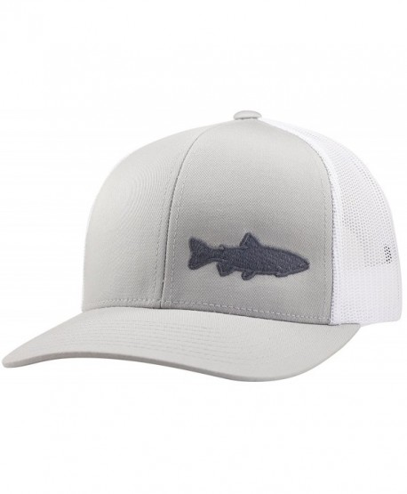 Trucker Hat - Trout Fishing 2.0 - by Lindo - Silver White - CS183CD7DD5 83713a0672a