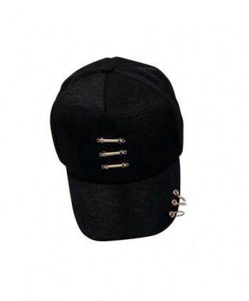 Unisex Punk Snapback Piercing Silver Ring Hip Hop Hat Baseball Cap - Style 2 - CO183LT3XXS