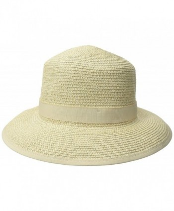 Physician Endorsed Women's Pitch Perfect Straw Sun Hat- Rated UPF 50+ For Max Sun Protection - Gold Tweed - CC11N1P2JRP