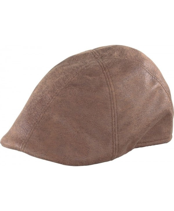 Henschel Faux Leather Ivy Scally Cap 6 Panel Driver 6216 - CT114WJFII1