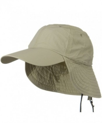 UV 50+ Outdoor Talson UV Flap Cap - Khaki - CG11918I9AL
