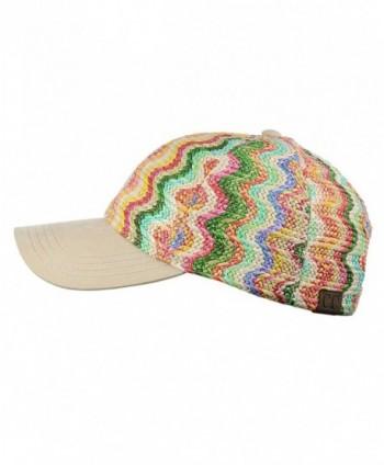 C C Multicolored Adjustable Precurved Baseball in Women's Baseball Caps