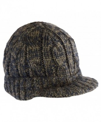District Cabled Brimmed Contrasting Colors Hat Dusty Khaki/ New Navy One Size - CZ11HHJNJUH