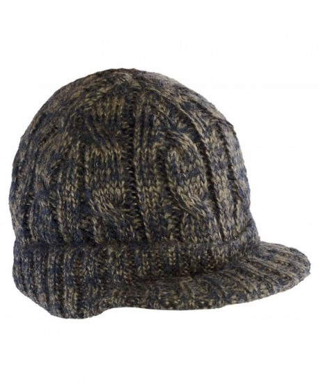 4fb2ff70327 District Cabled Brimmed Contrasting Colors Hat Dusty Khaki  New Navy One  Size - CZ11HHJNJUH