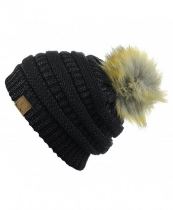 NYFASHION101 Exclusive Stretch Cable Beanie in Women's Skullies & Beanies