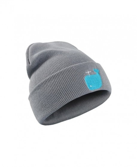 88d9654a4c037 Cute Whale Knit Beanie Cap Chunky Hedging Cap Cartoon Winter Animal Skull  Hat - Grey - CF1872NNMYY