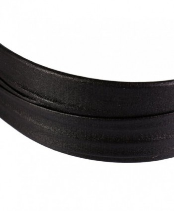 MonkeyJack Vintage Hard Plastic Headband With Artificial Leather Covered Women and Girls wide Hair band - Black - CI17Z309OMI