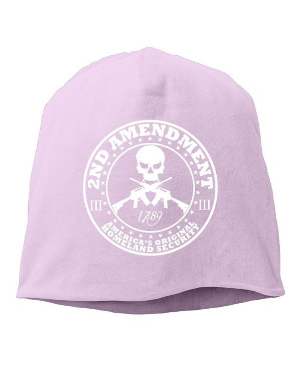 2nd Amendment Americas Original Homeland Security Unisex Skull Cap Toboggan Knit Hat Warm Hat. - Pink - CI186ZSYZ7D