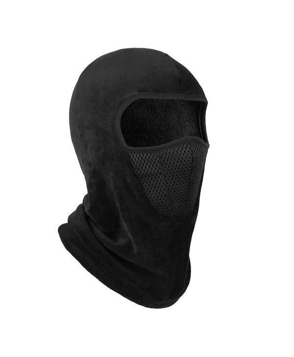OMECHY Balaclava Windproof Ski Mask Outdoor Cold Weather Face Mask Neck Warmer - Black-mesh - CG187NOUSD9