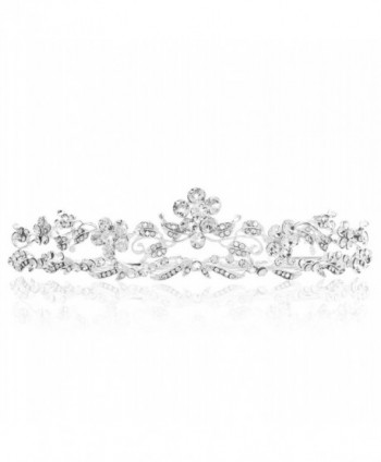 Bienna Birthday Rhinestones Headpiece Girls Silver - CN189OO36G8