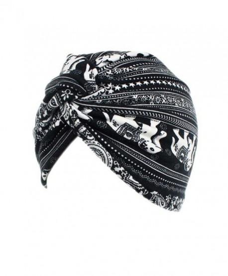 f4936828e05 DEESEE Women Floral Cancer Chemo Hat Beanie Scarf Turban Head Wrap Cap - E  - CT185294XHG