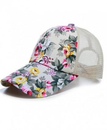 Joymee Mesh Cap Hat Flower Baseball Sport Golf Adjustable Breathable Women Outdoor - 5 - CF184RNNZ27