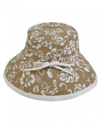 Womens Floral Bucket Cotton Reversible in Women's Bucket Hats