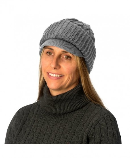 Evelots Womens Cable Knitted Form Fitting Winter Hat Comfortable-Assorted Colors - Gray - CZ11AC3MFY5