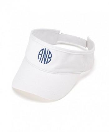 Wholesale Boutique Visors Personalized - White - CL12G2D8YDF
