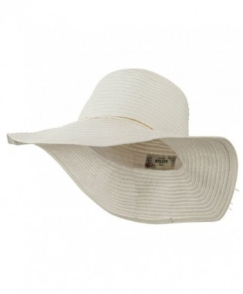 Coconut Band Floppy Hat - White W38S25E - CK11E8U26MZ