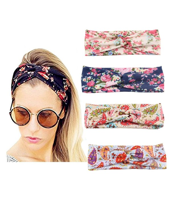 4 PCS Women Headband Hair Bands Accessories-Adults And Baby Elastic Turban - Adult Style 1 - CH185RH3N80