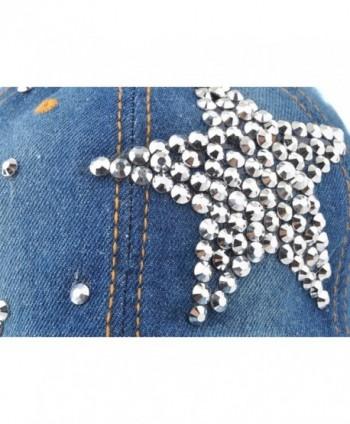 770813a4cdf ... Big Star Womens Baseball Cap Jewel Rhinestone Bling Hats Jeans Wash  Denim -  Elonmo Silver Baseball Rhinestone Denim%EF%BC%88Blue%EF%BC%  Elonmo  Silver ...