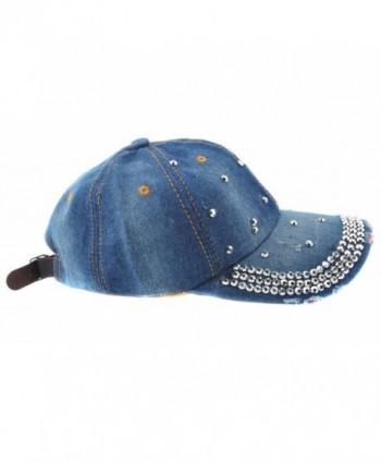 cc9e1137b14 Available. Elonmo Cute Silver Big Star Womens Baseball Cap Jewel Rhinestone  Bling Hats Jeans Wash Denim ...
