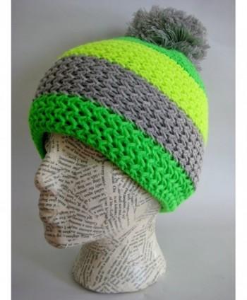 Frost Hats Striped Fluorescent M2013 5 in Women's Skullies & Beanies