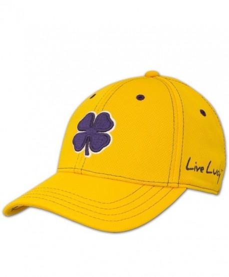 Black Clover Womens Gold With Purple Clover Rope Lucky Baseball Hat - Gold  Purple - C711TB98AX1 b8f0d05356b4