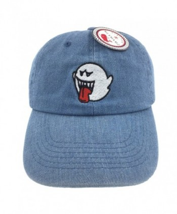 CUSTOM Ghost Hat Dad Hat Baseball Cap Embroidered Adjustable - Denim Hat - CP186R648D8