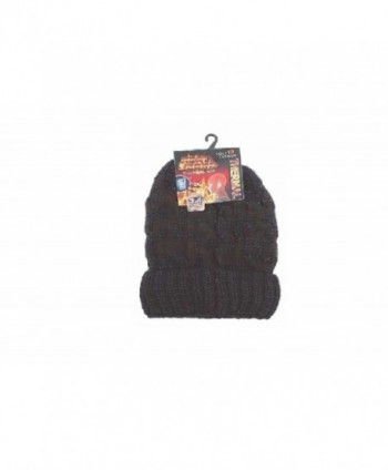 Ladies Heated Hat Thermal Cap Insulated Lined Interior To Keep Heat from Escaping Keeping You Warm - Black - C4187A2ERS7