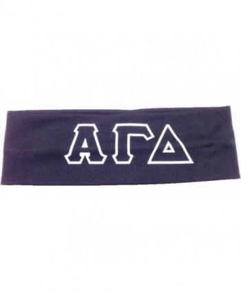 Alpha Gamma Delta Sorority Greek Letters Headband - Grey - CZ11JX90CBX