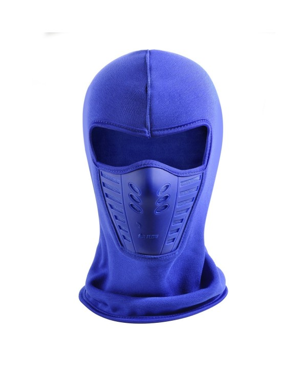 Balaclava Ski Mask Unisex Winter Fleece Warm Full Face Cover Anti-dust Windproof Hats - Blue - CE1867E36LX