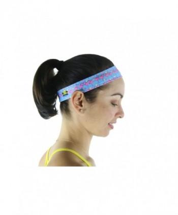 Florida Life - Flamingo Athleisure Headband by Miami Beach Body - Pink Flamingos - CL17Y0O0OC3
