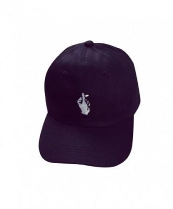 Sunward(TM) Adult Fashion Baseball Caps Finger Sun Caps - Black - CH12GKKIL79