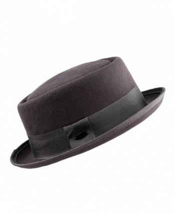 a6859f92c8c Available. NYFASHION101 Women s Wool Felt Solid Color Band Accent Classic Porkpie  Hat ...