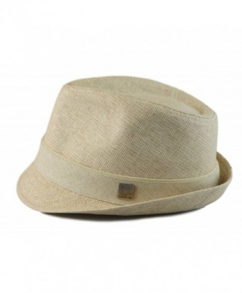 Hatter Classic Fedora Short Trilby in Men's Fedoras