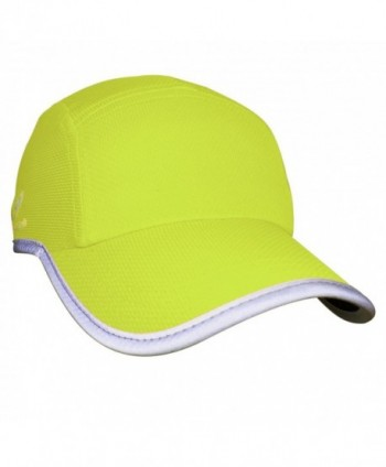 Headsweats Race Performance Running/Outdoor Sports Hat - High Visibility Yellow Reflective - CL11JCM2ZQL