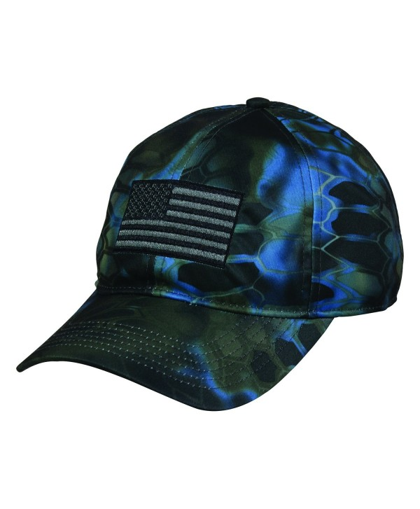 Kryptek Tactical Camo American Flag Understated Warrior Neptune Cap Hat 152 - CA17Z6MCGX4