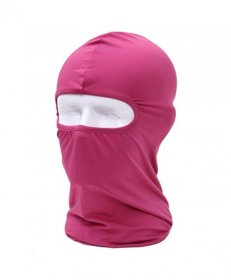 Angogo Candy Color Ultra Thin Ski Face Mask Under A Bike / CS Headgear - Rose Red - C7184ZMO8ST