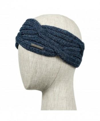 LUNA & TERRA-CAPRI Winter Headband Handmade Knit 100% BABY ALPACA (Steel Blue) - CP12N2SRXS4