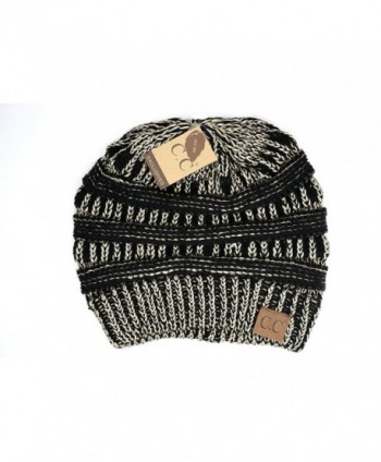 Crane Clothing Co. Women's Metallic CC Beanies - Metallic Black/Gold - CC1859OI92E