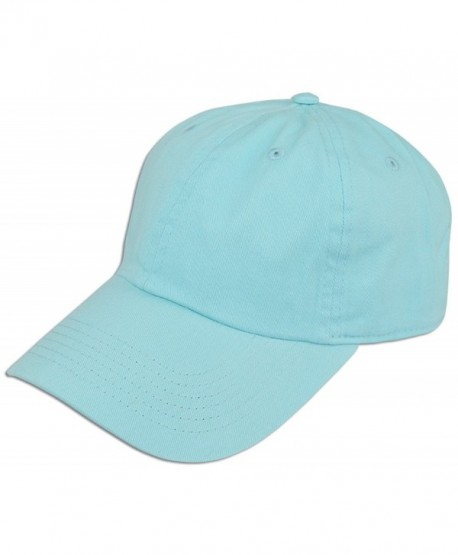 65418477167 Cotton Classic Dad Hat Adjustable Plain Cap Polo Style Low Profile  Unstructured 1400 - L Aqua - C512O5STH0R