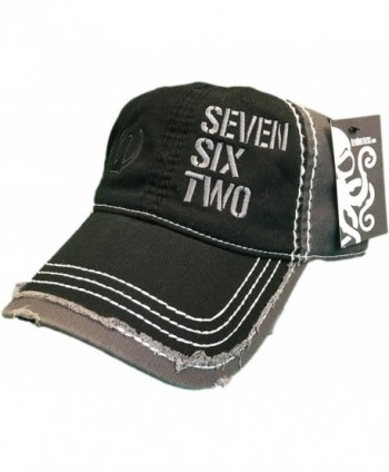 Seven Six Two Ak-47 Hat / cap Black / Grey Distressed 7.62 Rifle - CV12MA6M8LQ
