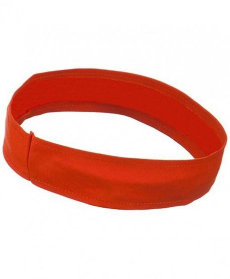Stretchable Brushed Twill Hat Band - Orange - CW1153M7BXL