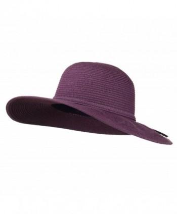 Paper Braid Flat Brim Self Tie Hat - Purple W26S25B - CS11D3H50R7