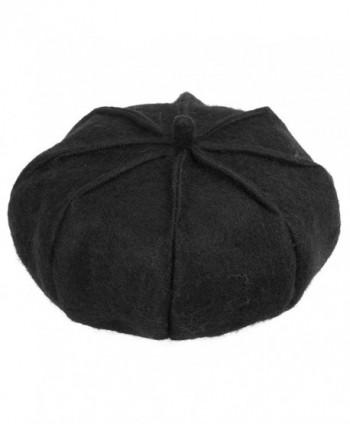 ManChDa Berets - classic wool berets winter berets for women 3 colors - soft - 1.black - C01882OR6U3