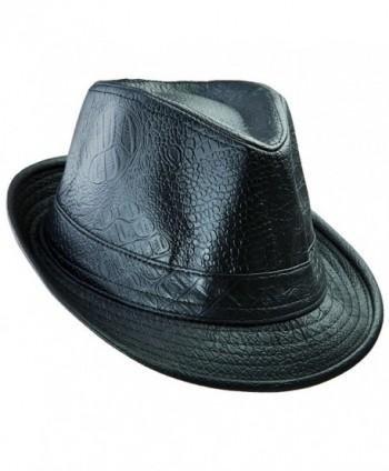 11af4743bfe5a4 Samtree Fedora Hats For Women Men-Classic PU Leather Panama Cap Jazz Hat -  02; Samtree Fedora Classic Leather 02 Black ...