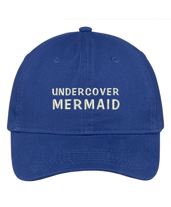 Trendy Apparel Shop Undercover Mermaid Embroidered Cap Premium Cotton Dad Hat - Royal - CH1838Y3KN6